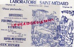 81-SENOUILLAC- RARE BUVARD LABORATOIRES SAINT MEDARD- VETERINAIRE- VITAMINOL-PORC- CHEVAL-BOEUFS - Buvards, Protège-cahiers Illustrés