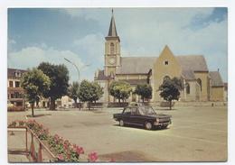 89--QUARRÉ-LES-TOMBES - LA PLACE DE L' ÉGLISE -RECTO/VERSO- B6 - Quarre Les Tombes
