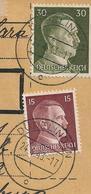 Luxembourg - 3 WW2 Germany Luxemburg WW2 Occupation Parcel Cards (Paketkarte) - Dudelingen Echternach Esch (Alzig) - 1940-1944 Occupation Allemande