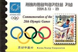 KOREA NORTH (DPR), 2004, Booklet 126,  Olympic Games Athens - Corea Del Nord