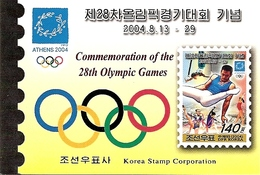 KOREA NORTH (DPR), 2004, Booklet 126a,  Olympic Games Athens - Corea Del Nord