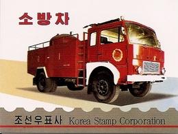 KOREA NORTH (DPR), 2004, Booklet 127,  Fire Engines - Corée Du Nord