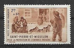 SP & M 1942 - Yv N°  2 ** - Oeuvre Protection De L' Enfance Indigène - Ungebraucht