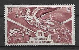 SP & M 1942 - Yv N° 11 ** - Anniversaire De La Victoire - Posta Aerea