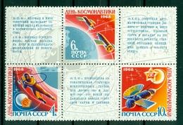 URSS 1968 - Y & T N. 3351/53 - Journée De La Cosmonautique - 1923-1991 URSS