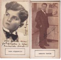 ENZO SIGNORELLO; UMBERTO DAVIDE. AUTOGRAPHE AUTOGRAFO SIGNEE SIGNATURE AUTHENTIQUE ORIGINAL.-BLEUP - Autographs