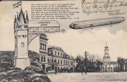 Zeppelin,an Der Luftfahrthalle Jever,gelaufen 1913 - Dirigeables