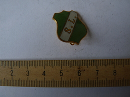 Insigne Décoration Broche Ancienne  émaillée SL Blason - Army & War