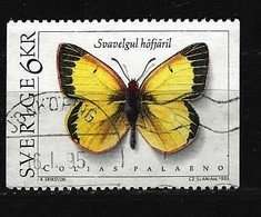 SCHWEDEN Mi-Nr. 1776 Schmetterlinge Zitronengelber Heufalter (Colias Palaeno) Gestempelt - Suède