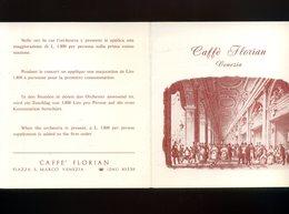 Dépliant Touristique CAFFE FLORIAN Café Florian Venezia Venise Italie Italy - Pubblicitari