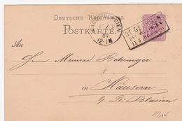 P 10 Von St. Georgen Bei Villingen (br3409) - Entiers Postaux