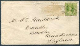 1866 Queensland 6d Chalon (SG 27?) Cover Ipswich - Bewdley, England Via Brisbane - Briefe U. Dokumente