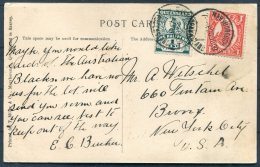 1909 Queensland Bazaar Street, Maryborough Postcard - New York, USA - Briefe U. Dokumente