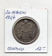 Monaco - 1947 - 20 Franchi - Vedi Foto - (FDC9436) - Monaco