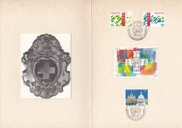 SCHWEIZ 1421-1422, 1438-1441, 1442, 700 Jahre Eidgenossenschaft 1991, Stempel: Rütli - Se-Tenant
