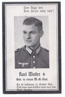 Saarbrücken - Sterbebild  Gefr. Karl Wolter , 1943 . Gef. Nordafrika  ,24 Jahre    -   (wz-L-3-372) - War, Military