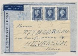 Nederlands Indië - 1947 - Propagandastempel Pontianak, Ondertekening Statuut Op Coverfront Naar Hilversum / NL - Netherlands Indies