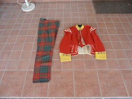 PRE-WAR 1st W.W. SCOTTISH HIGLAND ARMY REGIMENTAL LIGHT INFANTRY DRUMMER DOUBLET & TREWS - Uniforms