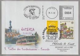 D 1332) AFSt + Mi# 1876 + SSt Wien ÖVEBRIA 2002 Hundertwasser-Freunde - Moderne