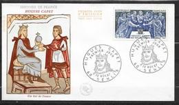 FDC Lettre Premier Jour Cachet Senis Le 10/11/1967 N°1537 Hugues Capet   TB.. Soldé  à Moins De 20 % ! ! ! - FDC
