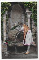CPA - Belle Jeune Femme, Du Siècle Dernier, Les Années Vingt  (écrit En 8 Mai 1928). - Anniversaire