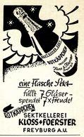 Original-Werbung/ Anzeige 1943 - ROTKÄPPCHEN SEKT / KLOSS & FOERSTER FREYBURG - Ca. 45 X 75 Mm - Werbung
