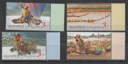THAILAND, 2017, MNH,THAI TRADITIONAL FETSIVAL, BOATS, RACES, COSTUMES, DRAGONS,4v - Other