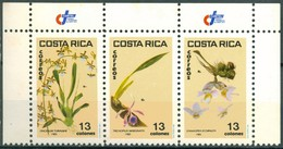 Costa Rica - 1985 - Yt 413/415 - Orchidées - ** - Costa Rica