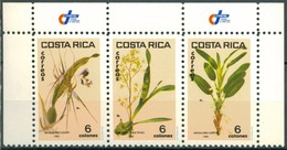 Costa Rica - 1985 - Yt 410/412 - Orchidées - ** - Costa Rica