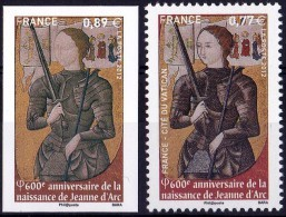 VARIETE N°4582a JEANNE D'ARC NON EMIS 0,89€ AU LIEU DE 0,77€ LUXE** - Errors & Oddities