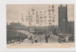 Cromwell's Statue And Exchange Station, Manchester, United Kingdom - F.p.  - Anni '1900 - Manchester