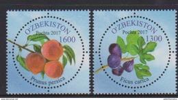 UZBEKISTAN, 2017, MNH,FRUIT, FIGS, 2v - Fruit