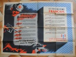 Collaboration Vichy Pétain Affiche Le Socialisme Bolchevique Le Socialisme Français - Posters