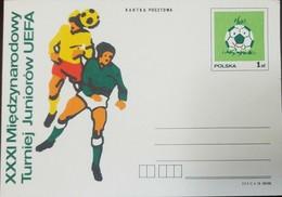 L) 1990 POLAND, FOOTBALL, BALL, SPORT, UEFA, XF - 1944-.... Republic