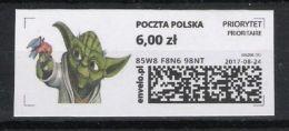 Poland 2016,  EPost Poczta Polska,  MNH, Star Wars, YODA, Film, Cinema,  Selfadhesive - Stamps
