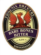 PHOENIX BREWERY - (HEYWOOD, ENGLAND) - BARE BONES BITTER - LAMINATED PUMP CLIP FRONT - Signs