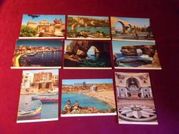 LOT 9  CARTES DE  POSTALES   DE MALTE  ) Tous Avec Timbre - Malte