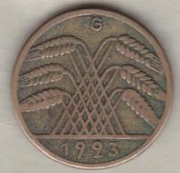 Allemagne, 10 Rentenpfennig 1923 G (KARLSRUHE) - [ 3] 1918-1933 : Weimar Republic