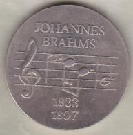 5 Mark 1972. 75th Anniversary - Death Of Johannes Brahms. Copper-Nickel. KM# 36.1 - [ 6] 1949-1990 : RDA - Rép. Démo. Allemande
