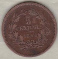 Luxembourg 5 Centimes 1854 UTRECHT , William III - Luxembourg
