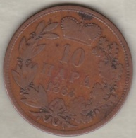 SERBIE .10 PARA 1868. PRINCE OBRENOVITCH III - Serbie