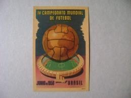 POSTCARD IV WORLD CHAMPIONSHIP FOOTBALL (Maracana Stadium) JUNE 1950 - BRAZIL - Voetbal