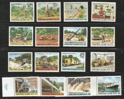 Christmas Island - 1980-1 Phosphates Industry   MNH **    Sc 95-110 - Christmas Island