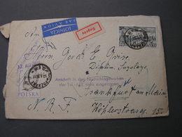Polen Expres Cv. 1959 Poznan , Anschrift Fehler - 1944-.... Republik