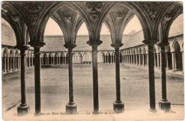 51zth 134 CPA - LE MONT SAINT MICHEL - ABBAYE -  LES GALERIES DE CLOITRE - Le Mont Saint Michel