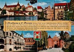 73177337 Neuburg_Donau Blick Ueber Die Donau Zum Schloss Oberes Tor Mit Muenz Ch - Neuburg