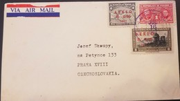 O) 1937 PANAMA, SURCHARGED CARMIN ON AIRPLANE OVER MAP SCOTT AP5, PIERRE AND MARIE CURIE SCOTT PT1  1c. -SURCHARGED ON G - Panama
