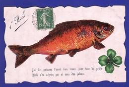 1er Avril Découpis TREFLE Et POISSON 1908 ( Très Très Bon état ) Ww975) - 1er Avril - Poisson D'avril