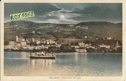 Lazio-viterbo-bolsena Panorama Dal Lago Veduta Barca Al Tramonto Riva Case Colline Anni 20/30 - Altre Città