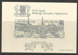 PL 1998, SLANIA, Congres Of Polish Philately, POLAND,MiNr Block 133 B ** MNH; - Briefmarkenausstellungen